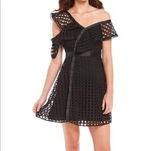Gianni Bini Black Crochet Katie Ruffle Dress 2